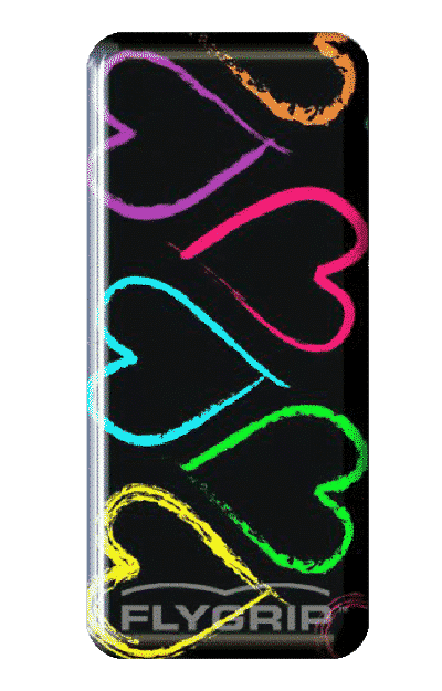 Flygrip colorful hearts